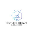 clean logo design template isolated vector image vector image