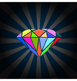 creative diamond vector image