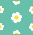 daisy white chamomile icon seamless pattern cute vector image vector image
