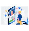 doctor online conceptwoman having an online vector image