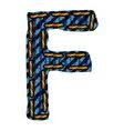 Farmerke tekstura slovo F vector image vector image