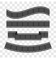 Film strip frame set Different shape ribbon Design vector image
