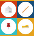 flat icon equipment set of letter supplies vector image vector image