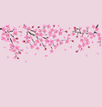 greeting cards or banners border with blossom vector image