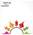 greeting for makar sankranti festival vector image vector image