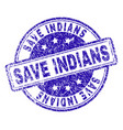 grunge textured save indians stamp seal vector image vector image