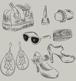 Hand Drawn Sketch of a Ladies Accessories vector image vector image
