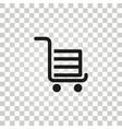handcart icon vector image vector image