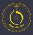 happy new year graphic design vector image