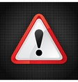 hazard warning symbol vector image