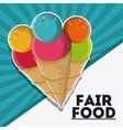 ice cream fair food snack carnival icon vector image vector image