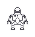 industrial robot line icon sign vector image vector image
