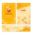 linden honey print template yellow and orange vector image