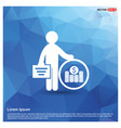 man with clock and money icon vector image