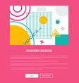 modern design pink web page vector image