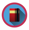 modern flat icon with diary and bookmark and vector image vector image