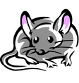 Mouse with big pink ears vector image vector image