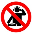 no dj zone vector image