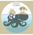 Octopus island enloy summer vector image vector image