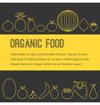 Organic fruit brochure vector image