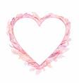 pink romantic boho tender heart frame vector image vector image