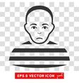 Prisoner EPS Icon vector image
