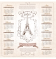 Retro Calendar for 2015 vector image