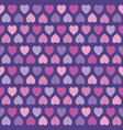seamless hipster hearts pattern pink purple vector image vector image