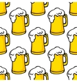 Seamless pattern of beer tankards vector image vector image