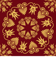 Seamless vintage elegant lace gold Greek ornament vector image