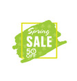 spring sale shopping in green vector image vector image