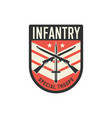 squad infantry troops military chevron with sword vector image vector image