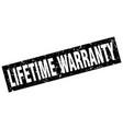 square grunge black lifetime warranty stamp vector image vector image