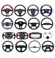 steering wheel car vehicle driving control vector image