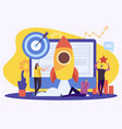 successful workspace flat composition vector image vector image