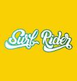 Surf rider handwritten unique lettering template