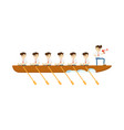 teamwork concept with businessmen in boat icon vector image vector image