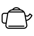 teapot line icon kettle vector image vector image