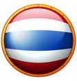 thailand flag on round button vector image vector image