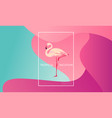 Tropical vacation layout flamingo bird for web