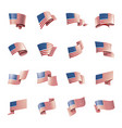 usa flag on a white vector image vector image