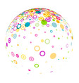 white 3d ball with circles pattern vector image vector image