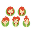 woman avatar part two vector image vector image