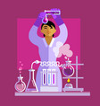 woman scientist working in laboratory vector image