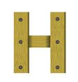 wood letter H vector image