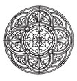 medieval circular panel is found on a