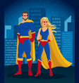 cartoon super heroes characters poster vector image