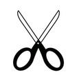 school scissors tool handle object vector image