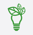Green Concept Light Bulb vector image