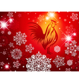 2017 New Year Christmas Red Fire Rooster vector image vector image